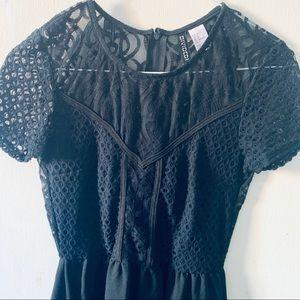 H&M Divided Black Lace Dress